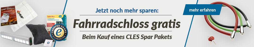 Fahrradschloss gratis bei Kauf von CLES Spar-